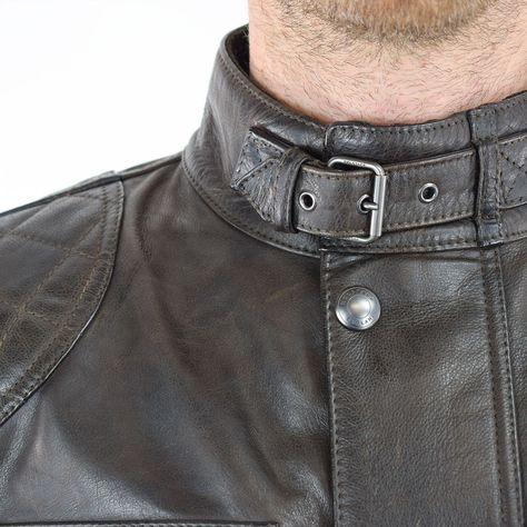 a3e20f1b7b BELSTAFF BROOKLANDS MOJAVE LEATHER JACKET - BLACK BROWN FRONT ...