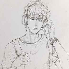 Listening Music Boy Awesome Drawing Ideas Visit My Youtube Channel To Learn More Drawing And Coloring Anime Drawings Sketches Anime Drawings Drawings