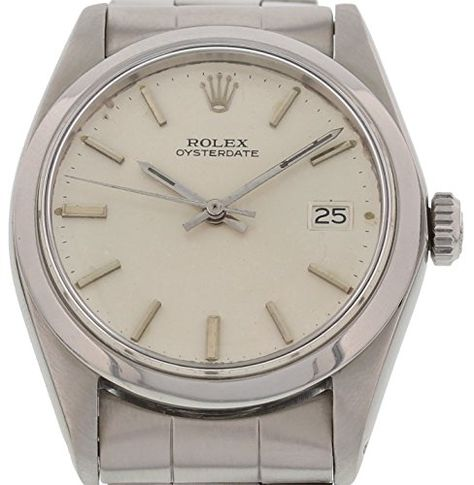 Rolex OysterDate mechanical-hand-wind mens Watch 6694 (Certified Pre-owned)