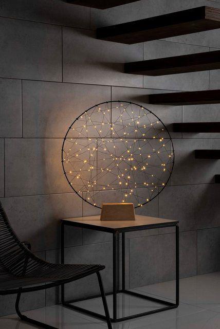 Led Metallsilhouetten Ring Mit Holz Fuss Lampe Holz Wohnzimmer Lichtdekoration Handgemachte Wohndekoration