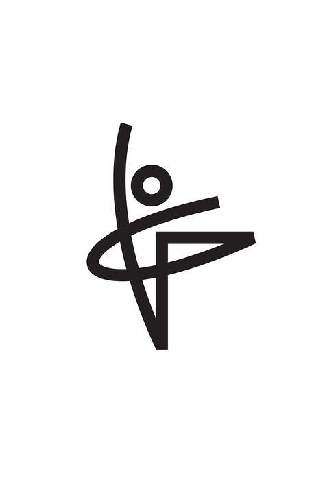 Ballet Logo Concept Designed by Tony Beard /  Ballet Dancer Human Form Linear Logo Design