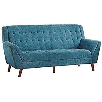 Homelegance Erath 81 Fabric Sofa Blue Blue Tufted Sofa Tufted Couch Blue Furniture