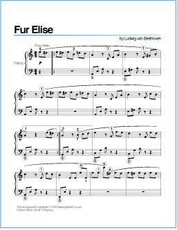"""Fur elise"""", by ludwig van beethoven sheet music download free in."""