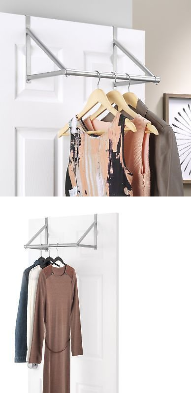 Closet Organizers 43503 Over The Door Closet Rod Garment Rack Dry Clothes Organizer Storage Hanging Bar Buy It N Clothes Organization Garment Racks Whitmor