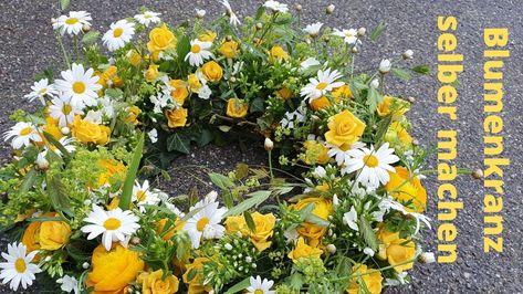 DIY Anleitung für einen tollen Blumenkranz in gelb. #blumen #blumenkranz #diy #anleitung #selber #machen