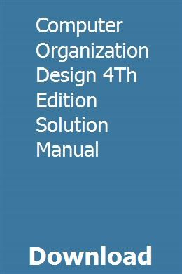 Computer Organization Design 4th Edition Solution Manual Introduction To Machine Learning Discrete Mathematics Chemistry Study Guide