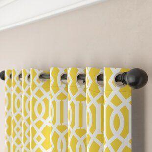 Fleur De Lis Living Talley Single Curtain Rod Curtain Rods Curtain Rod Hardware Cheap Curtain Rods