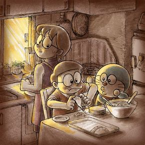 Doraemon Nobita And Tamaka Doraemon Meo Anime