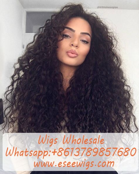 Curly long wigs for black women human hair wigs lace front wigs african american women wigs black girl natural curly hairstyles - New Pin