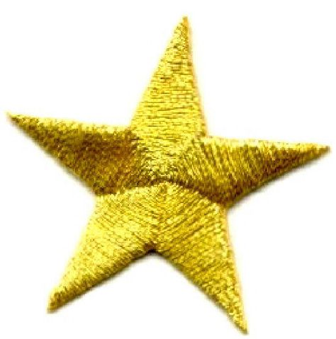 "Set Of 4-2 3//8/"" Green Star Stars Embroidered Stars Iron On Patches"