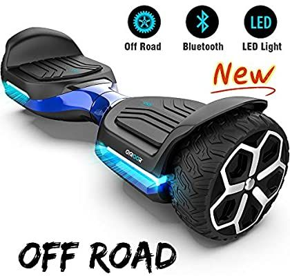 Amazon Com Gyroor T581 Hoverboard 6 5 Off Road All Terrain Hoverboard With Bluetooth Speaker And Led Lights Two Hoverboard Bluetooth Hoverboard Ride On Toys