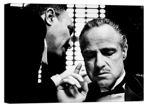 The Godfather - Canvas Wall Art Framed Print Various Sizes
