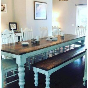 50 Lasting Farmhouse Dining Room Table And Decorating Inspirations Https Miriamdecor In Farmhouse Dining Room Table Farmhouse Dining Room Dining Room Design