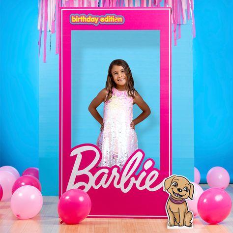 Barbie Theme Party, Barbie Birthday Cake, Barbie Cake, Barbie Birthday Invitations, Pink Birthday Decorations, 5th Birthday Party Ideas, Diy Birthday, Barbie Party Decorations, Barbie Box