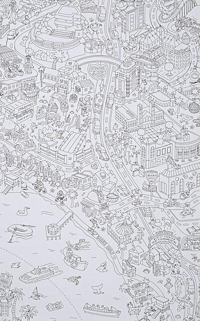 Omy Los Angeles Giant Coloring Poster Sponsored Angeles Los Omy In 2020 Poster Colour Poster Funny Office Supplies