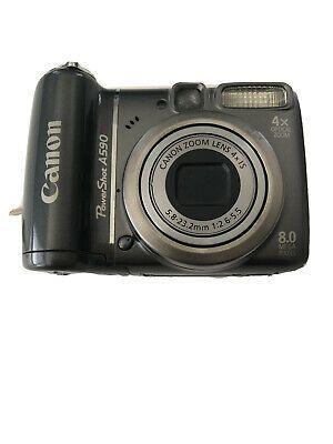 Canon Powershot A590 Is 8 0mp Digital Camera Gray In 2020 Digital Camera Camera Fujifilm Instax Mini