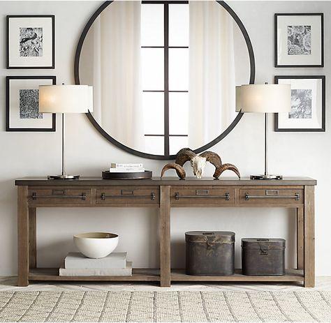 1000 Ideas About Large Round Mirror On Pinterest
