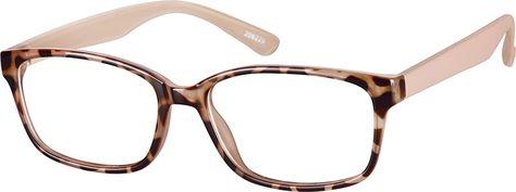 Tortoiseshell Rectangle Glasses #206225