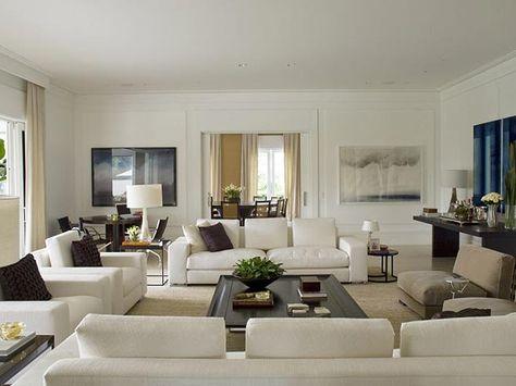 fotos salas decoradas modernas   Diseño de interiores