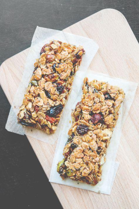 Homemade Superfood Granola Bars with Chia Seeds, Goji Berries &