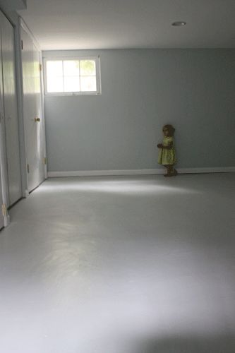 painted basement floor.  How To Paint A Concrete Floor Floor And Basements