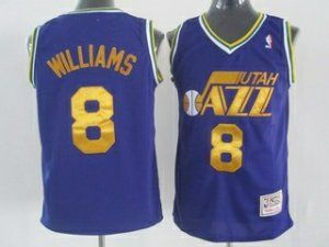 best sneakers 37c40 cafa0 Utah Jazz Cheap NBA #8 Purple Soul Deron Williams Swingman ...