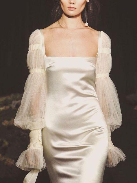 Romantic Silhouettes Gown designed by Danielle Frankel Studio inspo Trend Fashion, Fashion Week, Fashion Details, Runway Fashion, High Fashion, Guy Fashion, Style Fashion, Winter Fashion, Fashion Styles
