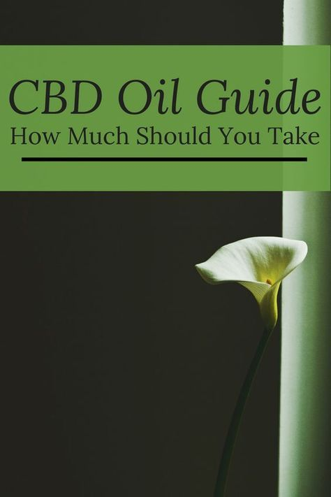 CBD Oil Dose Guide: How Much Should I Take   Cannabis   Pinterest