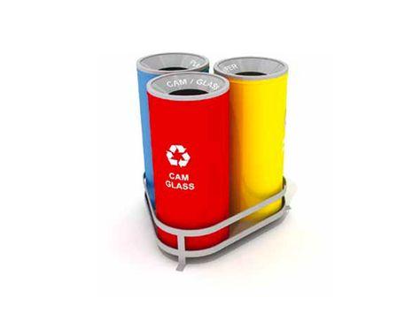 Wertstoffsammler Abfalltrennsystem aus Verzinktes Stahlteilen Mak 629 B