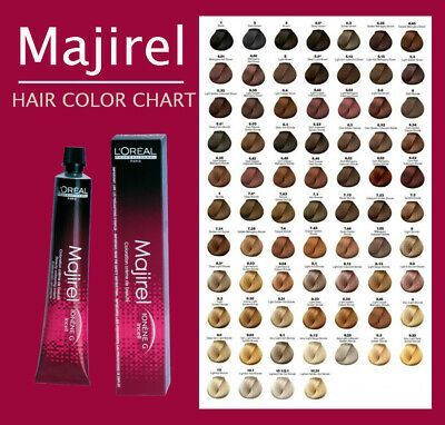 L Oreal Professional Majirel Hair Colour 50ml Full Range Available In 2021 Hair Color Chart Professional Hair Color Chart Professional Hair Color
