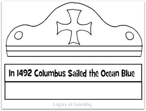 Columbus First Voyage Map And Craft Layers Of Learning Christopher Columbus Activities Christopher Columbus Kindergarten Fall Kindergarten Activities