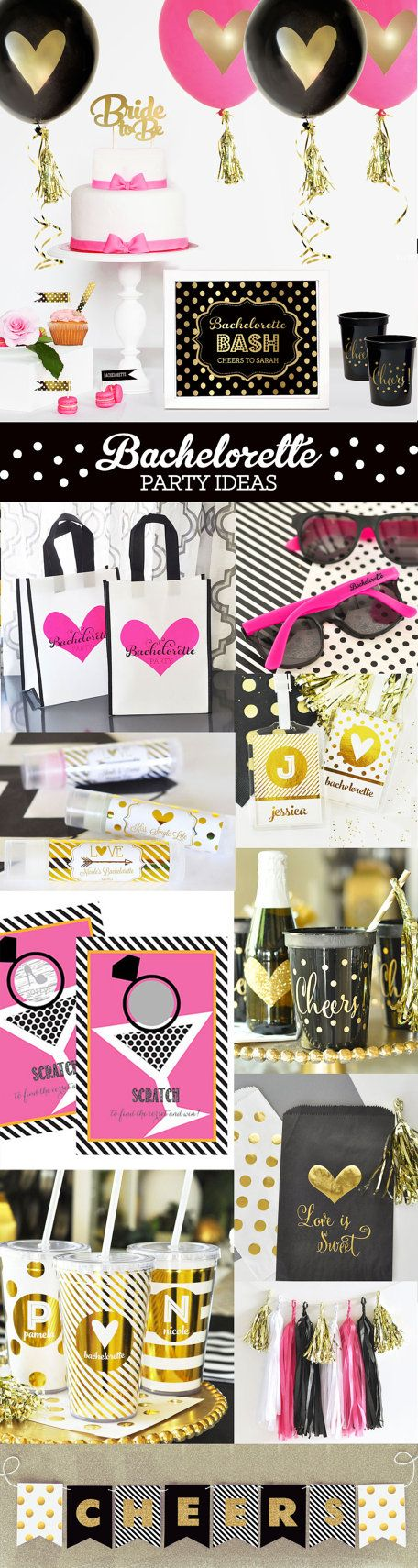 Bachelorette Party Ideas And Decorations For A Black Gold By Mod