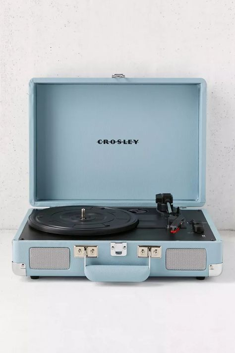 Shop Crosley Tourmaline Cruiser Bluetooth Record Player at Urban Outfitters today. We carry all the latest styles, colors and brands for you to choose from right here. Crosley Record Player, Bluetooth Record Player, Record Players, Stereo Speakers, Kids Record Player, Piano Player, Audio Player, Wireless Speakers, Light Blue Aesthetic
