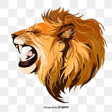 Hand Painted Elements Of Lion Roar Beast Lion King Clipart Male Lion Ferocious Png Transparent Clipart Image And Psd File For Free Download Roaring Lion Drawing Lion Drawing Male Lion