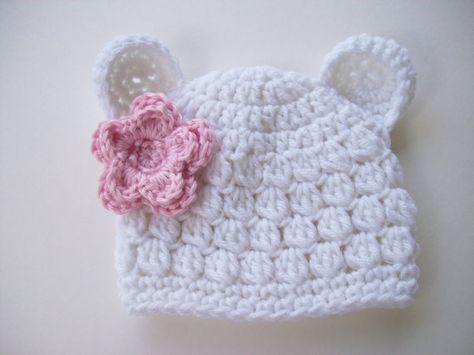 9eaed90c21f Baby Bear Hat Animal Hat Baby Girl Hat Crochet by CarolinaHats ...