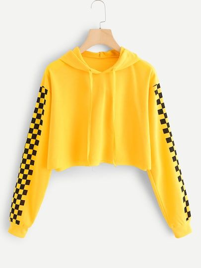 Shop Contrast Checked Sleeve Hoodie online Australia,SHEIN offers huge selection of Sweatshirts more to fit your fashionable needs.