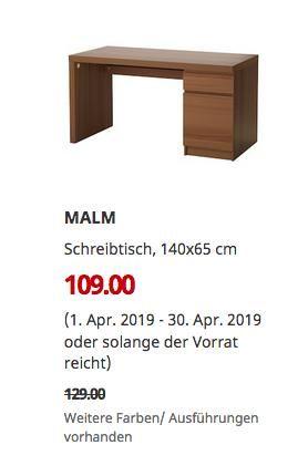 Abmessungen Ikea Schreibtisch Malm