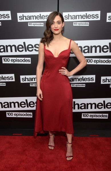 Actress Emmy Rossum attends the celebration of the 100th episode of Showtime's 'Shameless' at DREAM Hollywood.