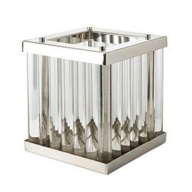 Eltham Hurricane Lamp Clear Hurricane Lamps Crystal Table Lamps Stainless Steel Frame