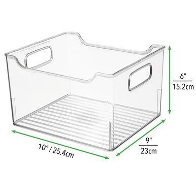 Large Plastic Bathroom Storage Organizer Box With Handles 10 X 9 X 6 Food Storage Organization Kitchen Pantry Cabinets Kitchen Pantry