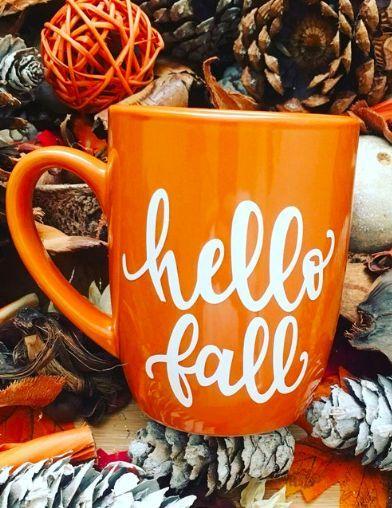 Hello Fall Fall Coffee Mug Autumn Mug Unique Coffee Mug Seasonal Mug Gift For Sister Gi Autumn Coffee Unique Coffee Mugs Mugs