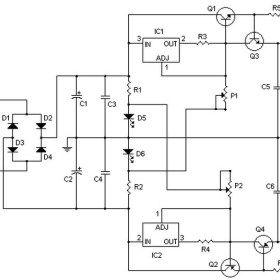Symmetrical Regulated Power Supply And Variable 0 To 30v 2a Power Supply Circuit Power Supply Electronic Schematics