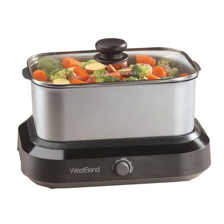 West Bend 87905 5 Quart Large Capacity Non Stick Versatility Cooker With 5 Temperature Control Settings Dishwasher Safe Includes A Travel Lid Thermal Carrying Range Cooker West Bend Cooker