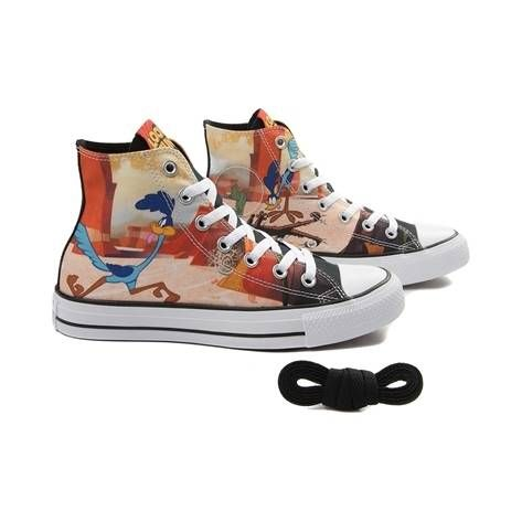Converse All Star Hi Coyote and Road Runner chaussures noir jaune