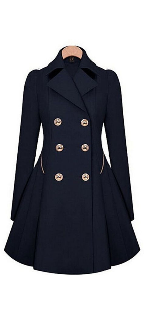 c41769b2b15 Navy double-breasted trench coat