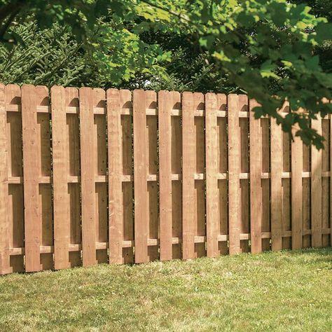 Severe Weather Actual 6 Ft X 8 Cedartone Spruce Pine Fir Dog Ear Wood Fence Panel 73000629 In 2020 Backyard Fences Panels