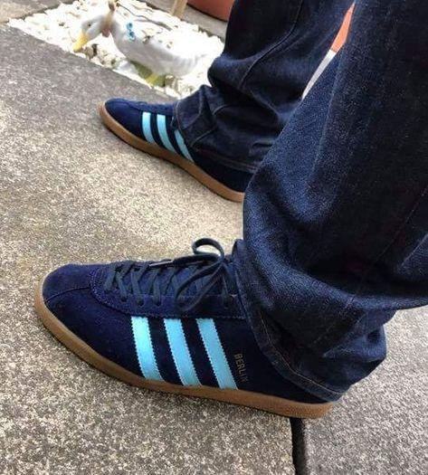 Mens adidas Originals Centaur Blue Casual Fashion Trainers