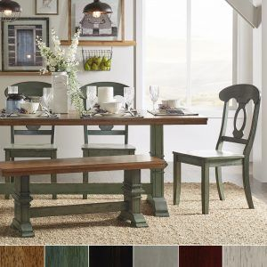 Farmhouse Black And Elegant Dining Table Touch