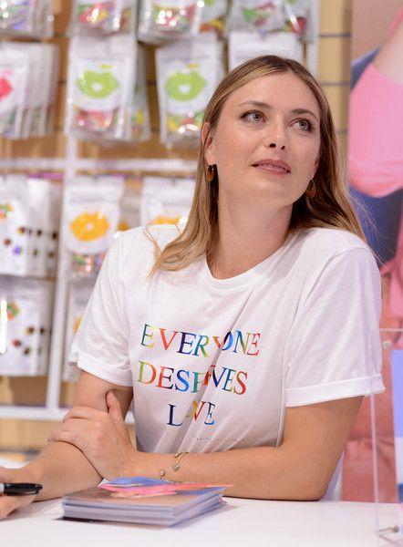 Maria Sharapova Photos Photos Maria Sharapova Launches Sugarpova At Kingdom Of Sweets In 2020 Maria Sharapova Maria Sharapova Photos Maria