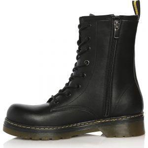 Sothe Dm 2018 Black Leather Women Lace Up Bot Post Women Shoes Boots